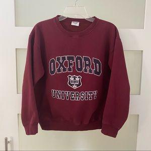 Vtg Oxford University Sweatshirt